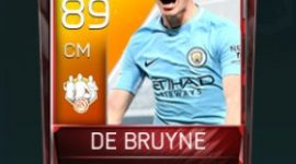 Kevin De Bruyne 89 OVR Fifa Mobile 18 TOTW February 2018 Week 2 Player