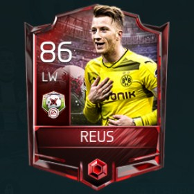 Marco Reus LW 86 OVR Fifa Mobile 18 Matchups Player