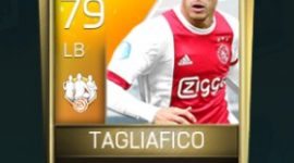 Nicolás Tagliafico 79 OVR Fifa Mobile 18 TOTW February 2018 Week 2 Player