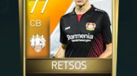 Panagiotis Retsos 77 OVR Fifa Mobile 18 TOTW February 2018 Week 3 Player