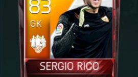 Sergio Rico 83 OVR Fifa Mobile 18 TOTW February 2018 Week 2 Player