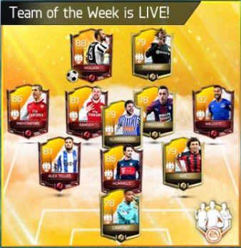 Team of The Week (TOTW) February 2018 Week 1