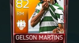 Gelson Martins 82 OVR Fifa Mobile 18 TOTW March 2018 Week 3 Player