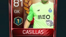 Iker Casillas 81 OVR Fifa Mobile 18 VS Attack Player
