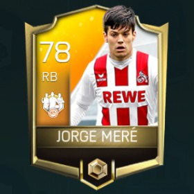 Jorge Meré 78 Fifa Mobile 18 TOTW March 2018 Week 3 Player