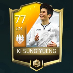 Ki Sung Yueng 77 OVR Fifa Mobile 18 TOTW March 2018 Week 1 Player