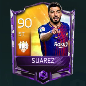 Luis Suárez 90 OVR Fifa Mobile TOTW February Week 4 Player