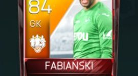 Łukasz Fabiański 84 OVR Fifa Mobile 18 TOTW March 2018 Week 2 Player