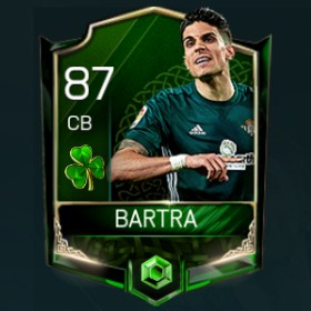 Marc Bartra 87 OVR Fifa Mobile 18 St. Patrick's Day Player
