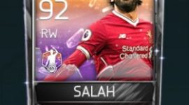 Mohamed Salah RW 92 OVR Fifa Mobile 18 POTM Player