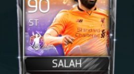 Mohamed Salah ST 90 OVR Fifa Mobile POTM Player