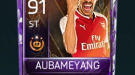 Pierre-Emerick Aubameyang 91 OVR Fifa Mobile 18 Tournament Player