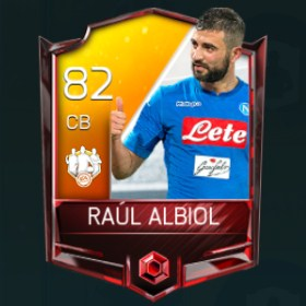 Raúl Albiol 82 OVR Fifa Mobile 18 TOTW March 2018 Week 3 Player