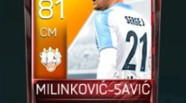 Sergej Milinković-Savić 81 OVR Fifa Mobile 18 TOTW February 2018 Week 4 Player