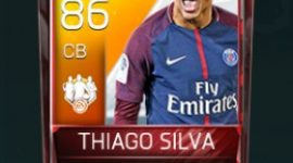Thiago Silva 86 OVR Fifa Mobile 18 TOTW February 2018 Week 4 Player