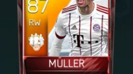 Thomas Müller 87 OVR Fifa Mobile 18 TOTW March 2018 Week 1 Player