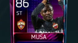 Ahmed Musa 86 OVR Fifa Mobile 18 Squad Building Challenger Player