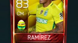 Aldo Leão Ramírez 83 OVR Fifa Mobile 18 Easter Player - Yellow Edition Player