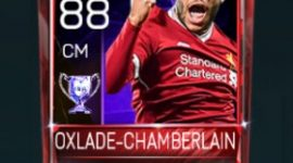 Alex Oxlade-Chamberlain 88 OVR Fifa Mobile 18 Euro Stars Player