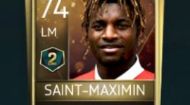 Allan Saint-Maximin 74 OVR Fifa Mobile 18 VS Attack Season 2 Player