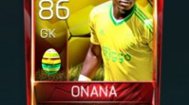 André Onana 86 OVR Fifa Mobile 18 Easter Player - Yellow Edition Player