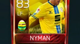 Christoffer Nyman 83 OVR Fifa Mobile 18 Easter Player - Yellow Edition Player