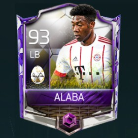 David Alaba 93 OVR Fifa Mobile 18 White Easter Master Player