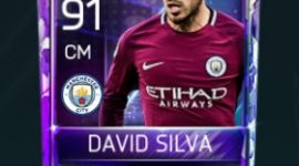 David Silva 91 OVR Fifa Mobile 18 Squad Building Challenger Player