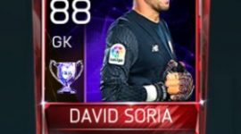 David Soria 88 OVR Fifa Mobile 18 Euro Stars Player