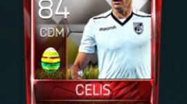 Guillermo Celis 84 OVR Fifa Mobile 18 Easter Player - White Edition Player