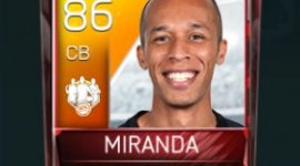 João Miranda 86 OVR Fifa Mobile 18 TOTW March 2018 Week 4 Player