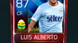 Luis Alberto 87 OVR Fifa Mobile 18 Easter Player - Blue Edition Player
