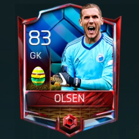 Robin Olsen 83 OVR Fifa Mobile 18 Easter Player - Blue Edition Player