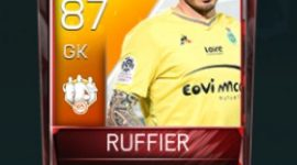 Stéphane Ruffier 87 OVR Fifa Mobile 18 TOTW April 2018 Week 3 Player