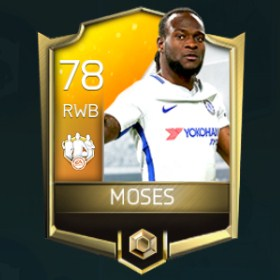 Victor Moses 78 OVR Fifa Mobile 18 TOTW April 2018 Week 4 Player