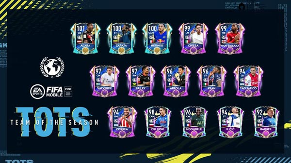 FIFA Mobile 21 Community TOTS Players