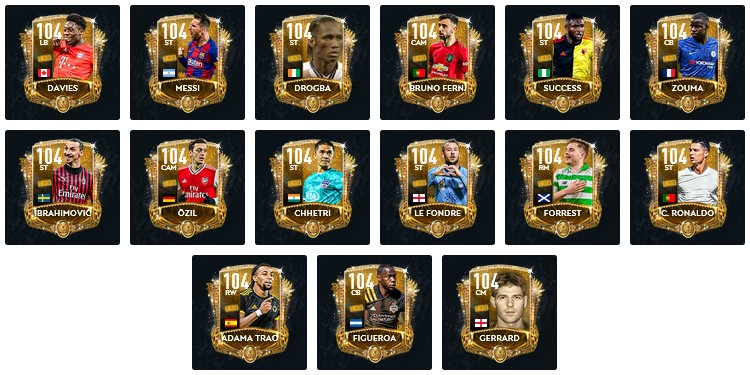 FIFA Mobile 20 Golden Ticket Players