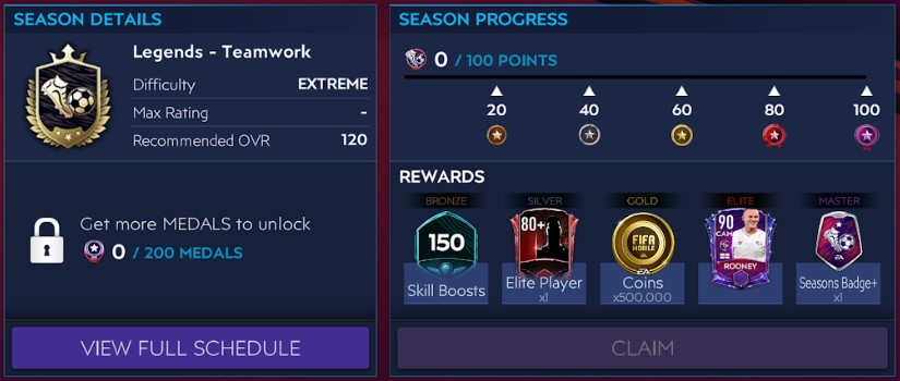 FIFA Mobile 21 Seasons