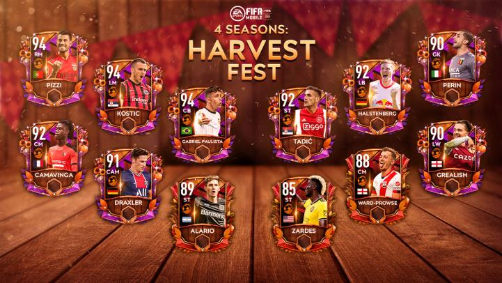 FIFA Mobile 21 Harvest Fest Players