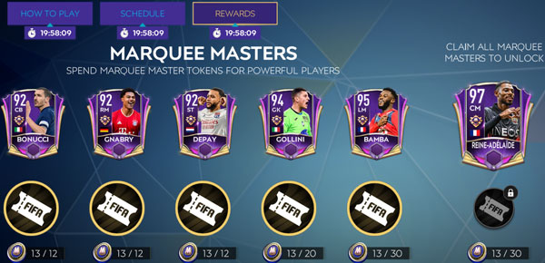 FIFA Mobile 21 Marquee Stars Players