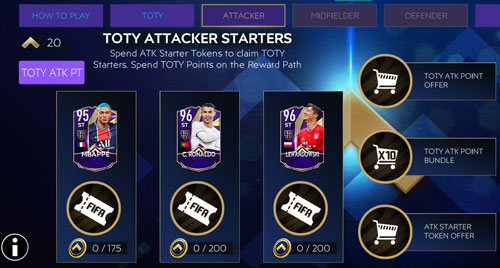 FIFA Mobile 21 TOTY Starters