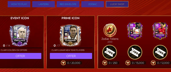 FIFA Mobile 21 Lunar New Year (LNY) Lucky Shop Players