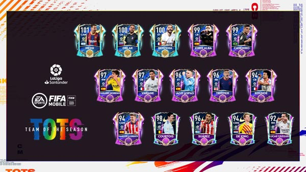 FIFA Mobile 21 LaLiga TOTS Players