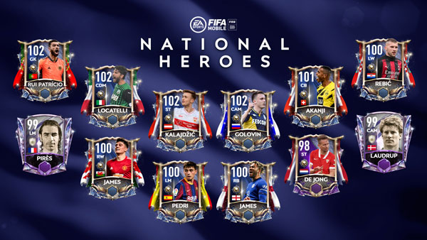 FIFA Mobile 21 National Heroes Players