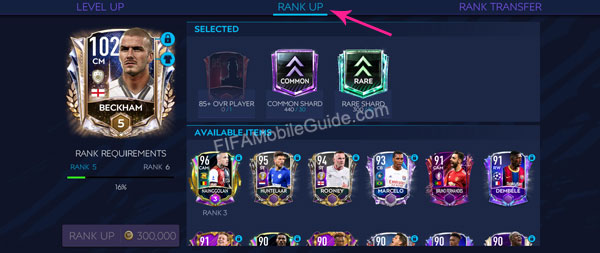 Step 2 to use rank shards in FIFA Mobile
