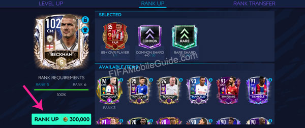 Step 3 to use rank shards in FIFA Mobile