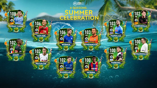 FIFA Mobile 21 Summer Celebration Players