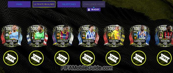 FIFA Mobile 21 Ultimate Rivalries Players
